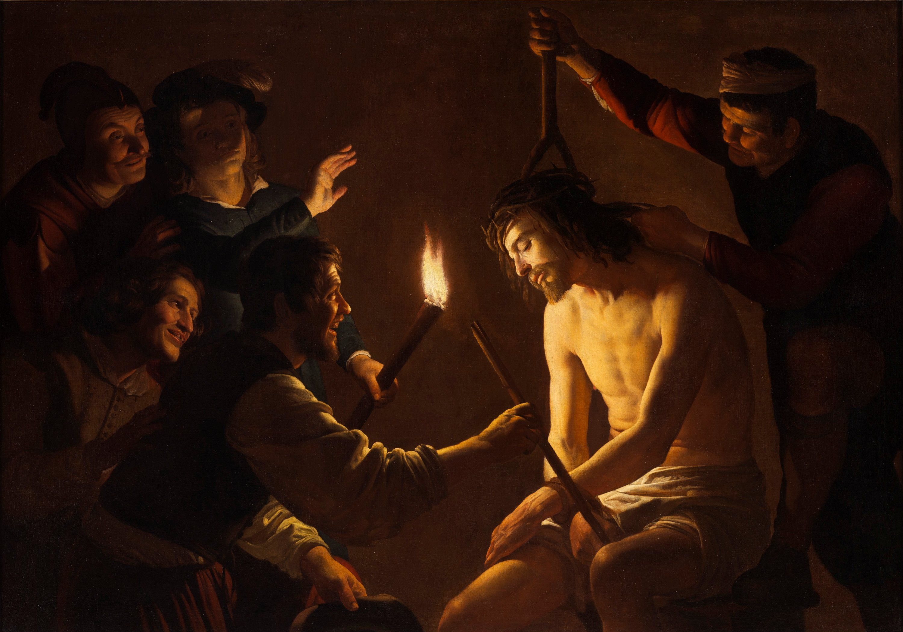 v Honthorst Christ Crowned w Tho