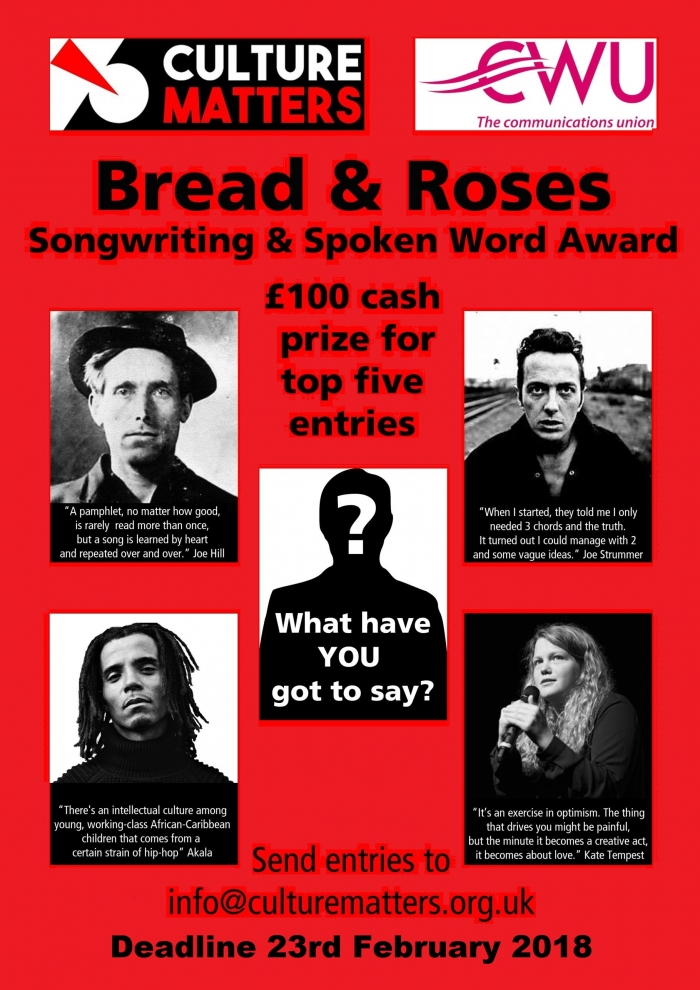 Bread And Roses Songwriting And Spoken Word Award
