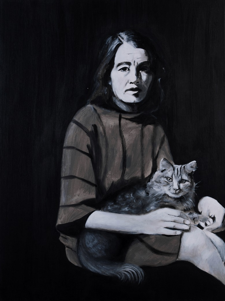 Christine Keeler with her cat Fionn Wilson resized