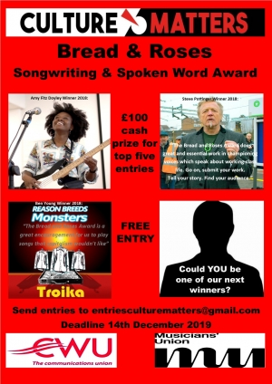 The Bread and Roses Songwriting and Spoken Word Award 2020