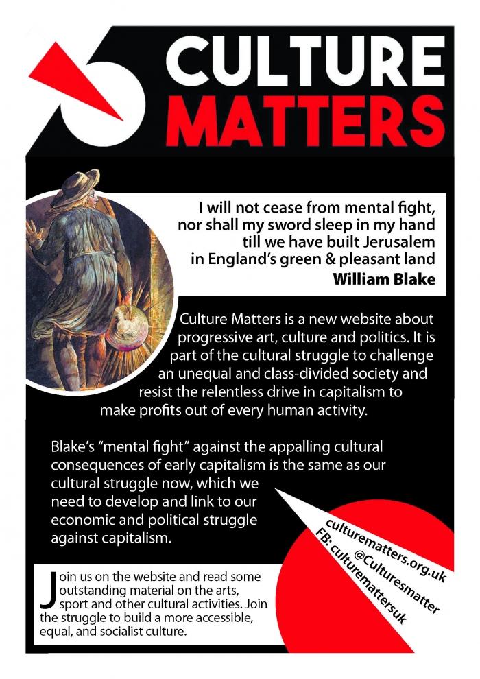 Cultural Activity Matters >> Culture Matters Promotional Leaflet