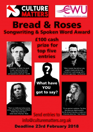 The Bread and Roses Songwriting and Spoken Word Award
